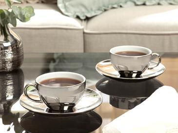 Dela Porselen 2'li Çay Fincanı Takımı 220 Ml Silver