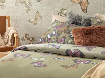 Papilions Pamuklu Tek Kişilik Nevresim Setı 160x220 Cm Yeşil