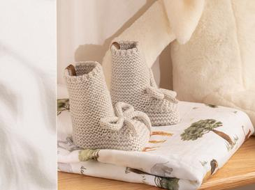Natural Bebe Çorap 6-12 Ay Gri