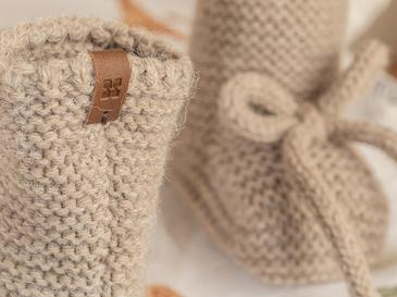 Natural Bebe Çorap 6-12 Ay Bej