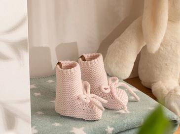 Natural Bebe Çorap 6-12 Ay Pembe