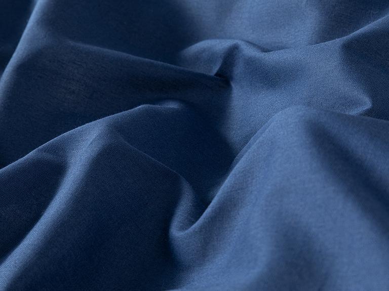 Plain Pamuk Tek Kişilik Nevresim Takımı 160x220 Cm Lacivert - Bej
