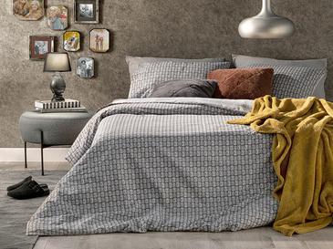 Deltoid Pamuklu Super King Nevresım Setı 260x220 Cm Gri
