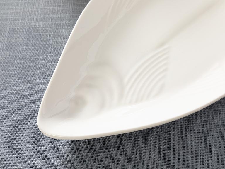Arzu Sabancı Paol New Bone Kayık Tabak 12x26 Cm Beyaz
