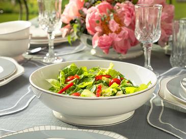 Arzu Sabancı Grace New Bone Salata Kasesi 25 Cm Beyaz - Gri