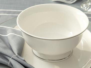 Arzu Sabancı Grace New Bone Kase 14 Cm Beyaz - Gri