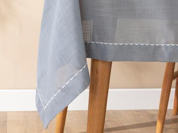 Arzu Sabancı Adora Polyester Masa Örtüsü 150x200 Cm Beyaz - Gri