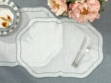 Arzu Sabancı Adora Polyester 2'li Amerikan Servis 35x50 Cm Beyaz - Gri