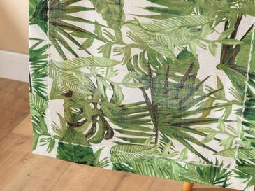 Arzu Sabancı Tropikal Polyester Runner 40x150 Cm Beyaz - Yeşil