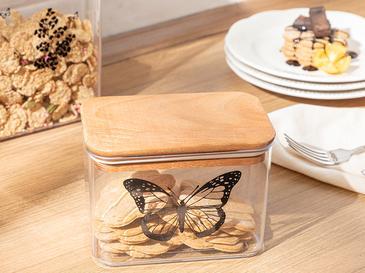 Butterfly Plastik Kapaklı Erzak Kabı 1l Şeffaf