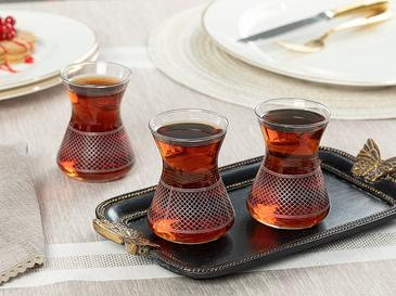 Getto Cam 6'lı Çay Bardağı 125 Ml Şeffaf