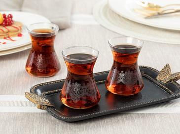 Marella Cam 6'lı Çay Bardağı 125 Ml Şeffaf