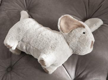 Mini Dog Polyester Dekoratıf Yastık 22x31 Cm Bej