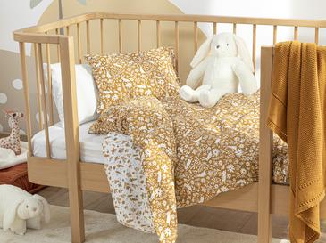 Bunny Pamuklu Bebe Nevresim Takımı 100x150 Cm Beyaz