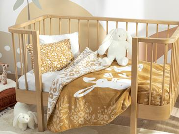 Bunny Pamuklu Bebe Battaniye 100x120 Cm Sarı
