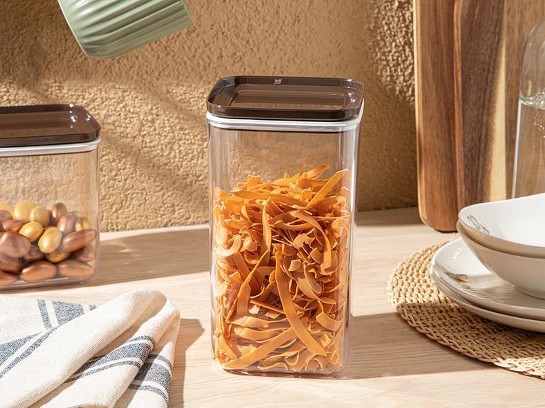 Brena Plastik Kapaklı Erzak Kabı 1,5l Kahve