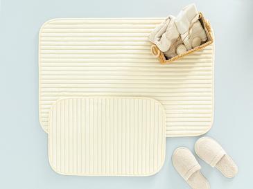 Cord Fitilli 2'li Banyo Paspası Seti 60x90-40x60 Cm Açık Bej