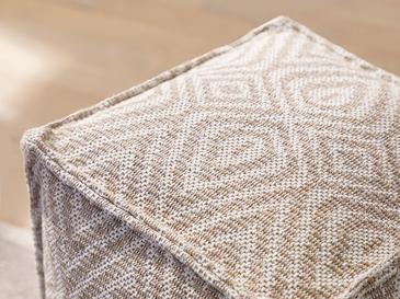 Cotton Diamonds Dokuma Puf 40x40x40cm Bej