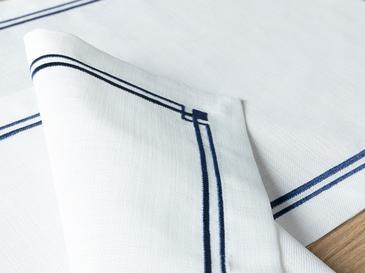 Agate Polyester 2'li Amerikan Servis 47x32 Cm Lacivert