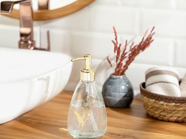 Elegance Banyo Sıvı Sabunluk 9x19 Cm Gold