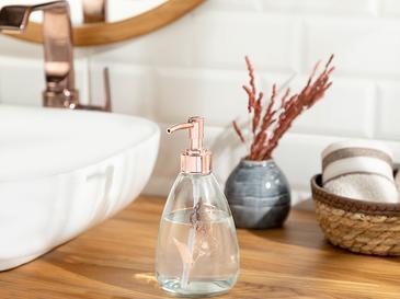 Elegance Banyo Sıvı Sabunluk 9x19 Cm Rose Gold