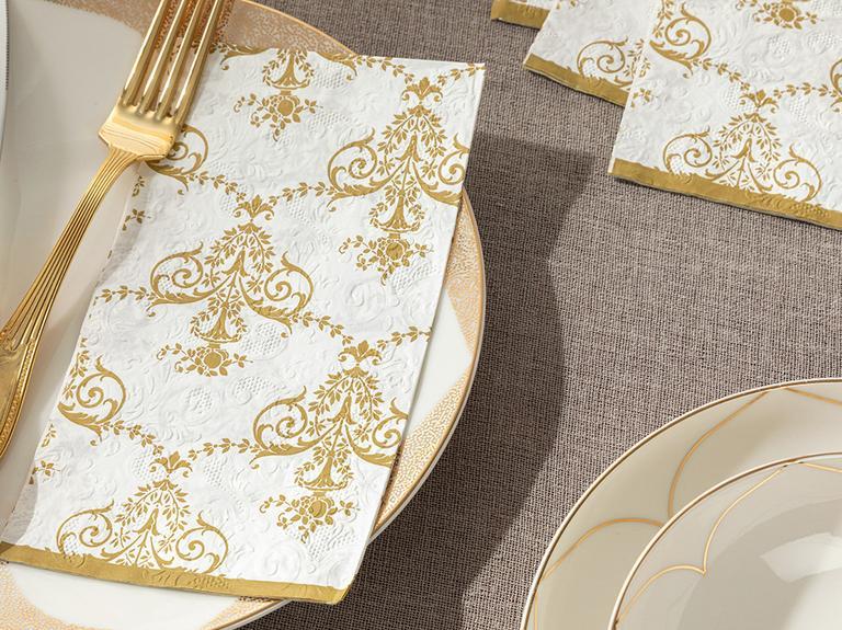 Royal Damask Kağıt 20'li Kağıt Peçete 33x40 Gold