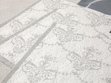 Royal Damask Kağıt 20'li Kağıt Peçete 33x33 Cm Silver