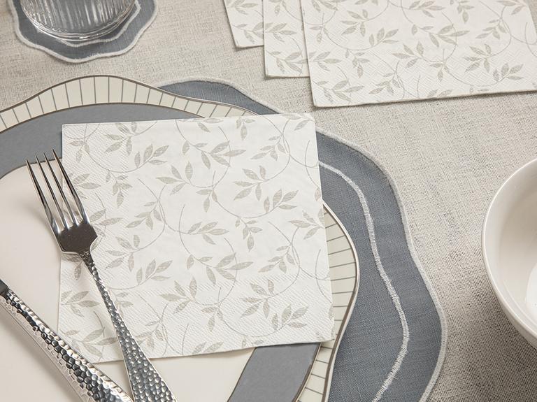 Flora Kağıt 20'li Kağıt Peçete 33x33 Cm Beyaz
