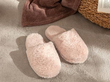 Fluffy Peluş Kadın Ev Terliği 40 Pembe