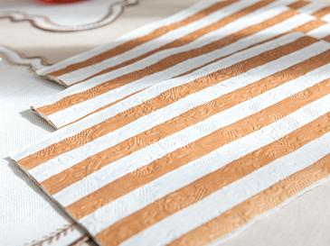 Striped Kağıt 20'li Kağıt Peçete 33x40 Pembe Gold