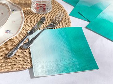 Palette Kağıt 20'li Kağıt Peçete 33x33 Cm Turkuaz