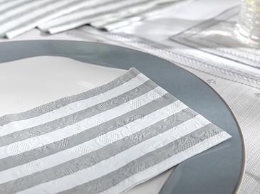 Striped Kağıt 20'li Kağıt Peçete 33x40 Silver