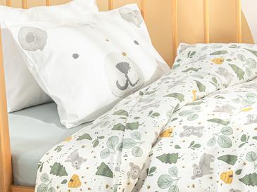 Honey Bear Pamuklu Bebe Nevresim Takımı 100x150 Cm Yeşil