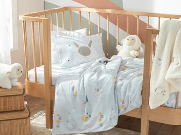 Little Lamb Pamuklu Bebe Nevresim Takımı 100x150 Cm Beyaz
