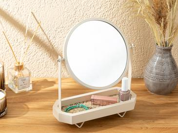Alexa Masa Aynası 29x24x10 Cm Krem