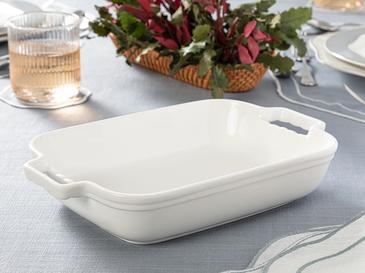 Paıge New Bone Fırın Kabı 29x18 Cm Beyaz