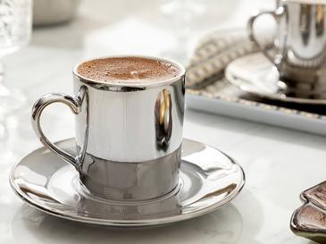 Gigi Porselen 2'li Kahve Fincan Takımı 80 Ml Silver