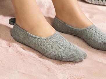 Winter Mode Pamuk Kadın Babet Çorap 36-40 Gri