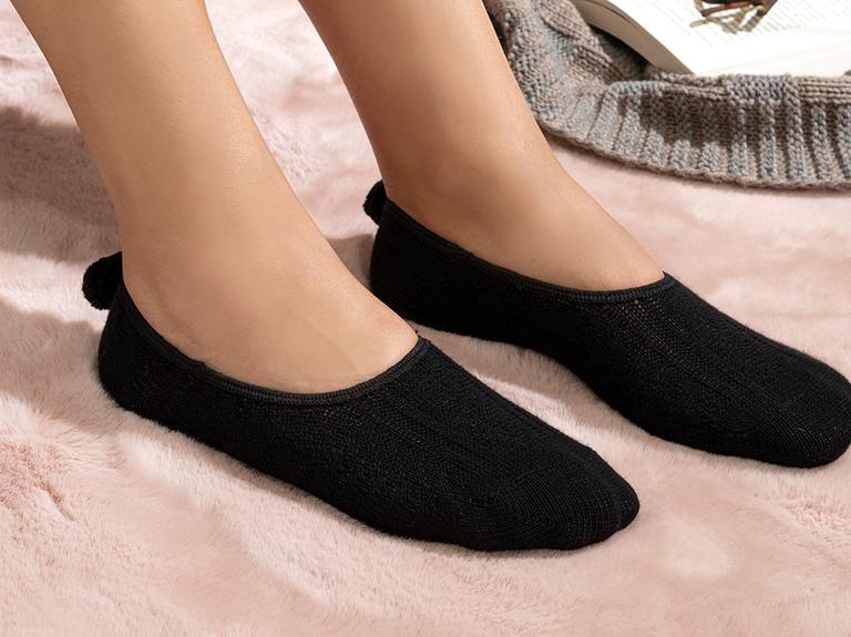 Winter Mode Pamuk Kadın Babet Çorap 36-40 Siyah