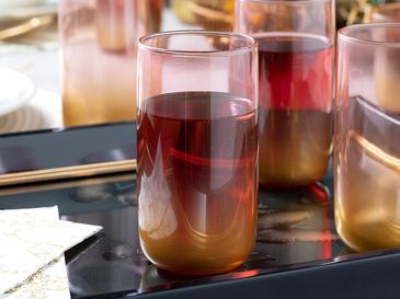 Armo Cam 4'lü Meşrubat Bardağı 365 Ml Pembe Gold