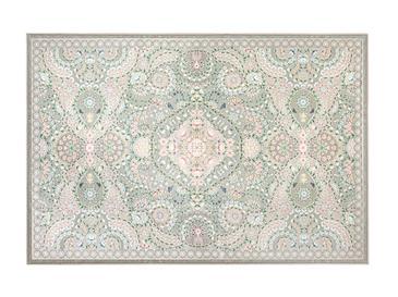 Romantic Floral Şönil Kaydırmaz Taban Halı 160x230 Cm Bej