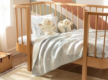 Little Lamb Pamuklu Tek Kişilik Bebe Battaniye 100x120 Cm Beyaz