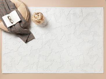 Butterfly Pamuklu Kilim 80x150 Cm Beyaz