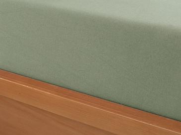 Düz Penye Çift Kişilik Lastikli Çarşaf Takımı 160x200 Cm Çağla Yeşili